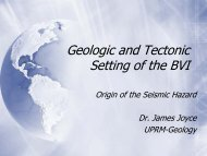 Geologic and Tectonic Setting of the BVI
