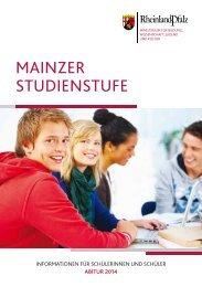 Mainzer Studienstufe - Abitur 2014 - Gymnasien in Rheinland-Pfalz