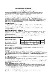 Informationen zur Reifeprüfung - Host Europe