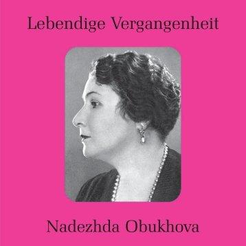 Obukhova text - Preiser Records