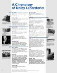 A Chronology Of Dolby Laboratories - Projectionniste.net - Page 2