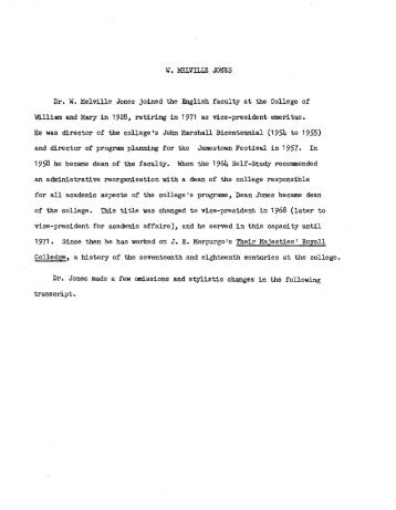 The W&M Digital Archive - College of William and Mary