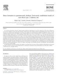 Bone formation in spontaneously diabetic Torii-newly established ...