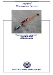 Track measuring equipment Type MOM K700 Sectional version