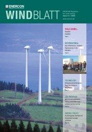 title story... international technology job profiles energy ... - Enercon