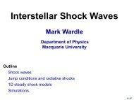 Interstellar Shock Waves Mark Wardle