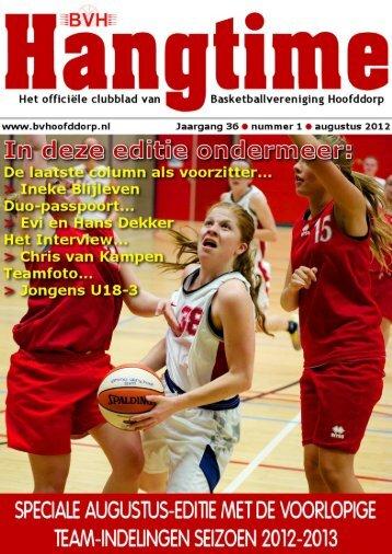 Hangtime Jaargang 36 nummer 1 augustus 2012 ... - BV Hoofddorp