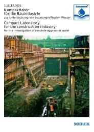 Kompaktlabor für die Bauindustrie Compact Laboratory for the ...