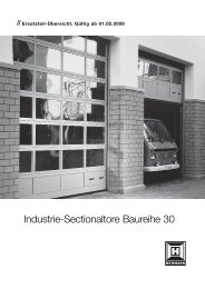 Industrie-Sectionaltore Baureihe 30 - Hörmann