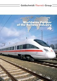 Worldwide Partner of the Railway Industry - Goldschmidt Thermit ...