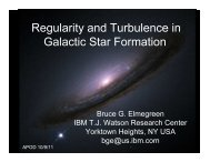 Regularity and Turbulence in Galactic Star Formation