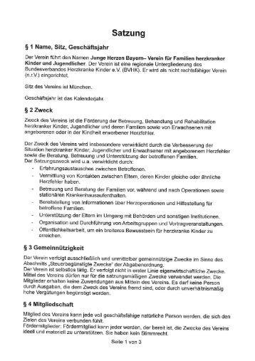 Satzung - Junge Herzen Bayern