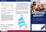 Segelwoche - Herzkrankes Kind Homburg/Saar eV