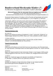 Bundesverband Herzkranke Kinder eV - Herzkrankes Kind Homburg ...