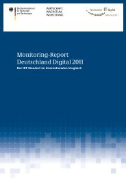 Monitoring Report Deutschland Digital 2011 - TNS Infratest