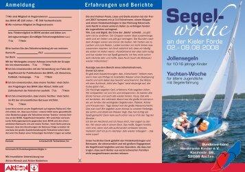 Segel- - Herz-Kinder-Hilfe Hamburg eV
