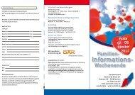 Informations- Wochenende - Herzkrankes Kind Homburg/Saar eV