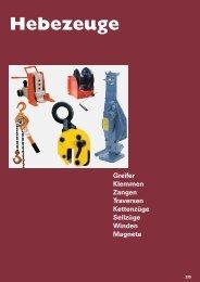 Hebezeuge - Sternkopf - Seil und Hebetechnik