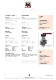 BVHD / BLHD butterfly valves