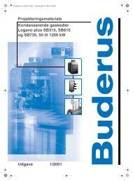 Projekteringsmateriale Udgave 1/2001 Kondenserende ... - Buderus