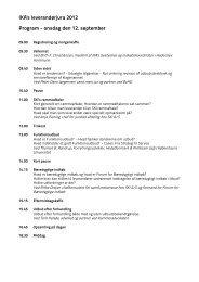 IKA's leverandørjura 2012 Program - onsdag den 12. september