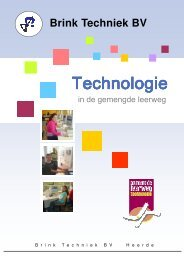 BROCHURE TECHNOLOGIE APRIL 2009 - Brink Techniek