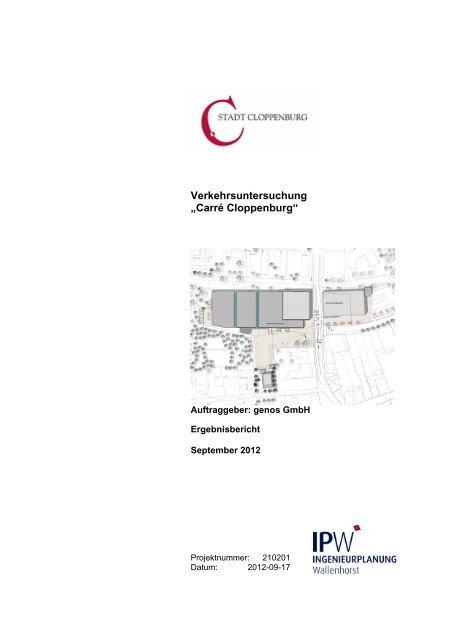 "1adbac79385f11 Verkehrsuntersuchung ""Carré Cloppenburg"" - Stadt Cloppenburg"