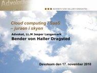 Juraen i skyen – Jesper Langemark BvHD - Devoteam