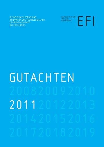 Gutachten 2011. - Expertenkommission Forschung und Innovation