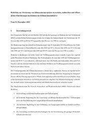 Richtlinie zur Förderung von Klimaschutzprojekten in sozialen ...
