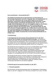 Kommunalfinanzen - Kassenstatistik 2011 Das Statistische ...