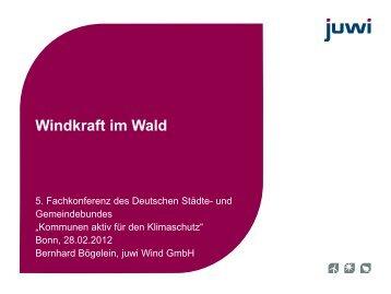 Windkraft im Wald - Deutscher Städte- und Gemeindebund