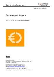 Personal des öffentlichen Dienstes - Fachserie 14 Reihe 6 - 2011