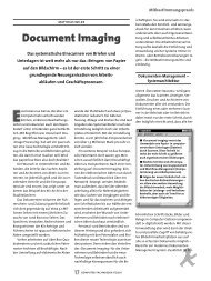 Document Imaging - dtb - Datenschutz- und  Technologieberatung