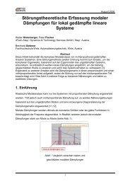 Die Bewegungsgleichung eines linearen Systems mit ... - dTech Steyr