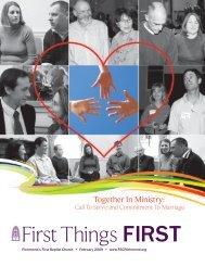 FirstThings FIRST - First Baptist Church