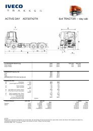 ACTIVE DAY AD720T42TH 6x4 TRACTOR – day cab - Iveco