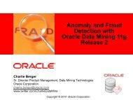 CAB Algorithms Presentation - Oracle