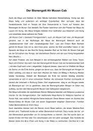 Der Bienengott Ah Mucen Cab - Bienenzuchtverein Sulzbach ...