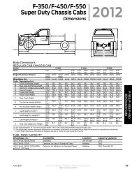 F-350/F-450/F-550 Super Duty Chassis Cabs - Ford Fleet