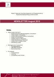 Status Leader Projekte - RegioZ