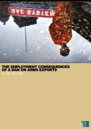 the employment consequences of a ban on arms exports