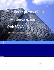 Web CAAT User Guide - Webcaat.org