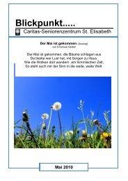 Blickpunkt..... Ausgabe Mai 2010 - Seniorenzentrum Oberstaufen