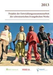 2013 Projekte der Entwicklungszusammenarbeit der ... - Mission 21