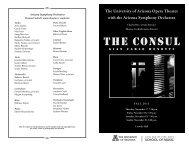 The consul - School of Music - University of Arizona