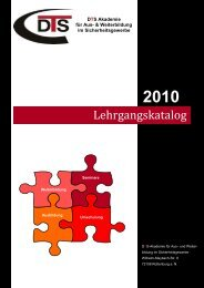 Lehrgangskatalog 2010 aktuell.pub - DTS Akademie