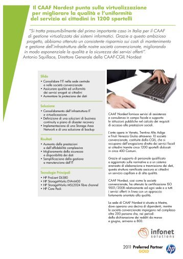 Il CAAF Nordest punta sulla virtualizzazione per ... - Infonet Solutions