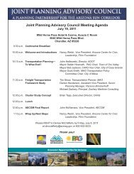Joint Planning Advisory Council Meeting Agenda