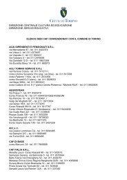 Elenco CAF - Città di Torino
